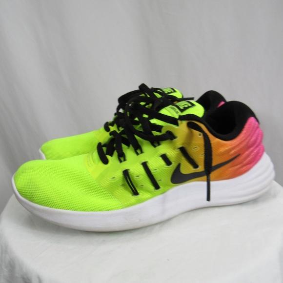 d835e0d4846 Nike Volt Green Pink Neon Sneaker Shoe Lunarstelos.  M 5bfaf666035cf14a0094b470